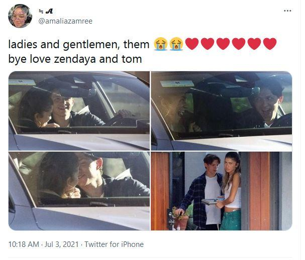 Cuitan netizen melihat Tom Holland dan Zendaya bermesraan