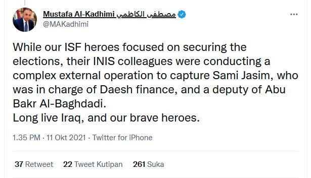 Cuitan Perdana Menteri Irak Mustafa al-Kadhimi