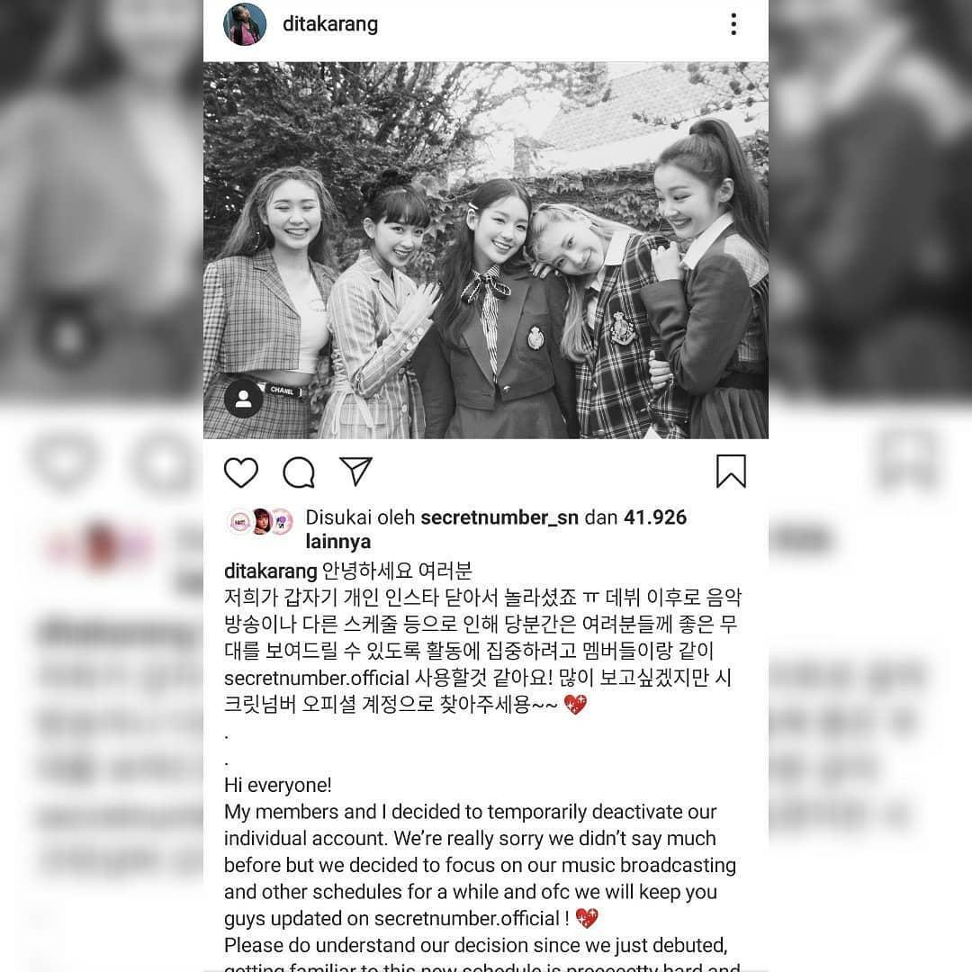 Dita Karang berpamitan akan deactive akun Instagramnya sementara waktu.