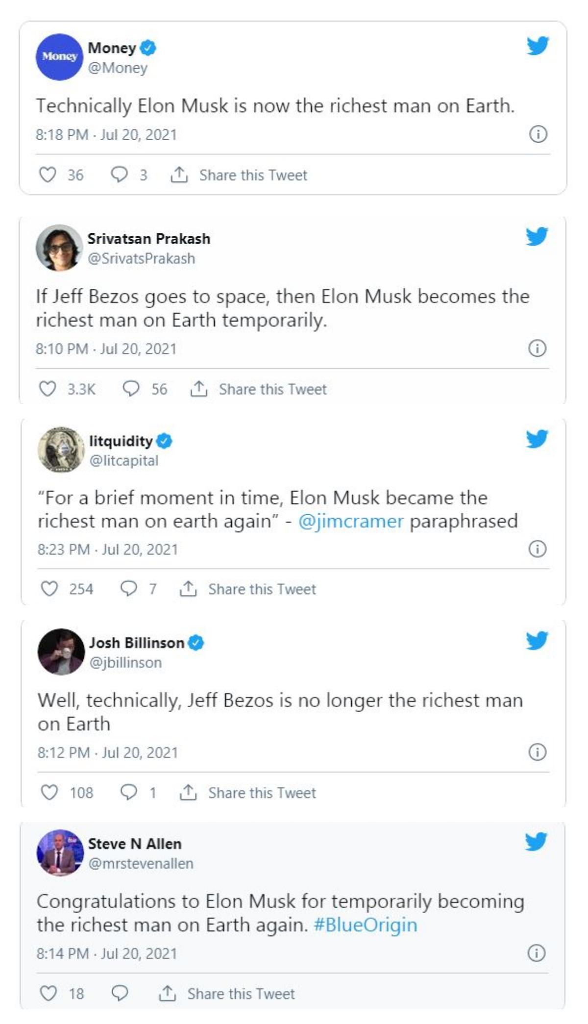Elon Musk disebut sebagai orang terkaya di dunia