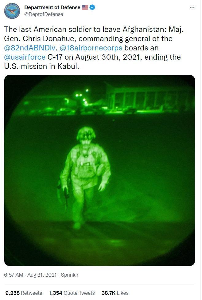 Jenderal Chris Donahue, tentara AS terakhir yang meninggalkan Afghanistan