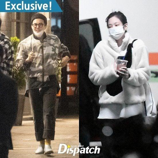 Foto kencan Jennie BLACKPINK dan G-Dragon BIGBANG yang dirilis Dispatch, Rabu (24/2/2021).