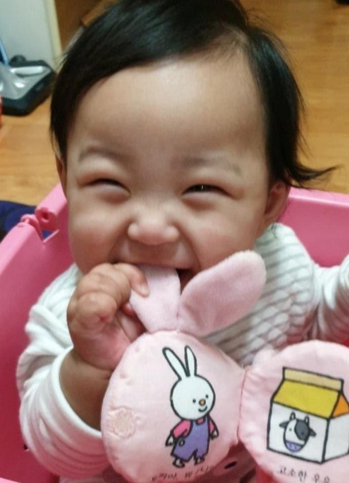 Jung In saat berusia enam bulan.
