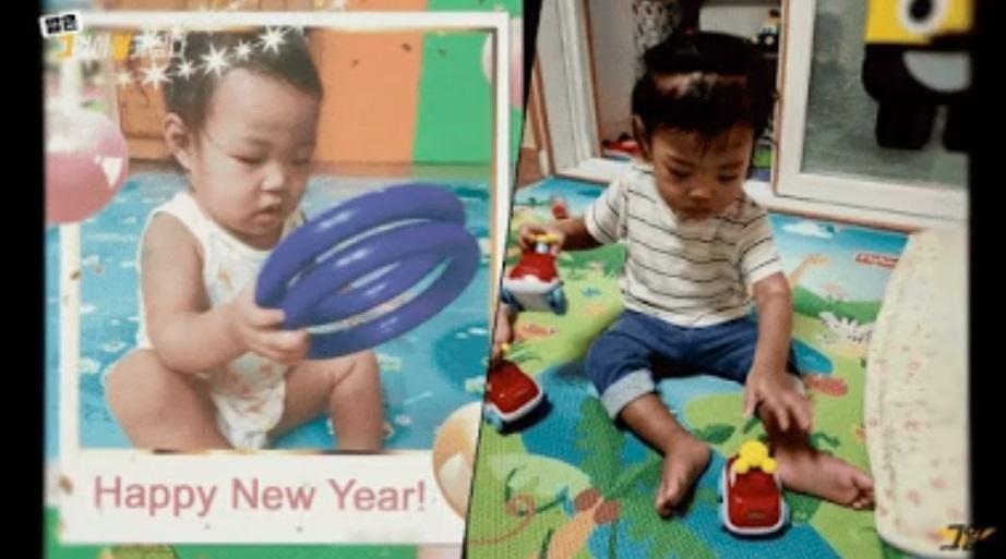 Jung In saat Mei 2020 (kiri) dan ketika masuk ke penitipan anak pada September 2020 (kanan), setelah beberapa lama tak datang.