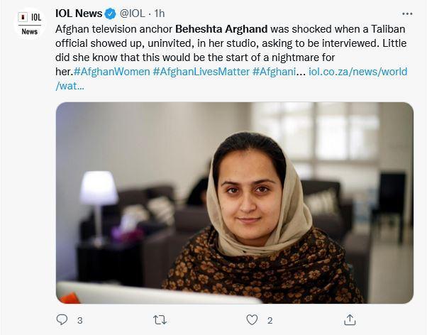 Jurnalis Afghanistan Beheshta Arghand melarikan diri saat Taliban mengambil alih