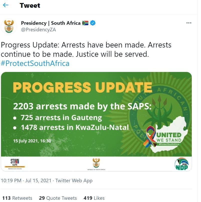 Afrika Selatan mulai mengerahkan lebih dari 20.000 tentara untuk membantu polisi dalam memadamkan kerusuhan yang telah berlangsung selama seminggu, Kamis (15/7/2021).