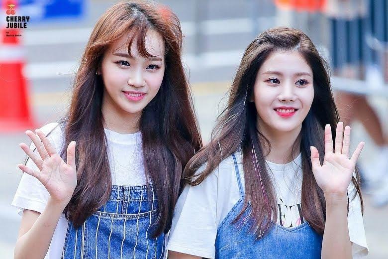 Kim Chaewon dan Kwon Eunbi