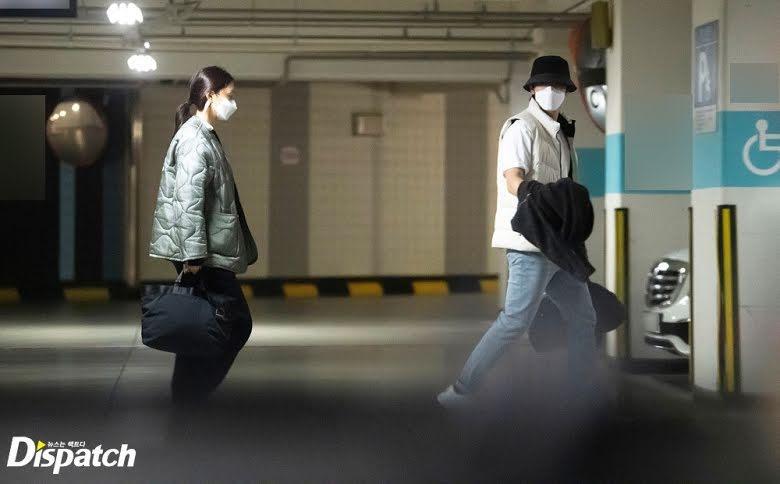 Foto kencan Kim Jung Hyun dan Seo Ji Hye yang dirilis Dispatch, Kamis (8/4/2021).