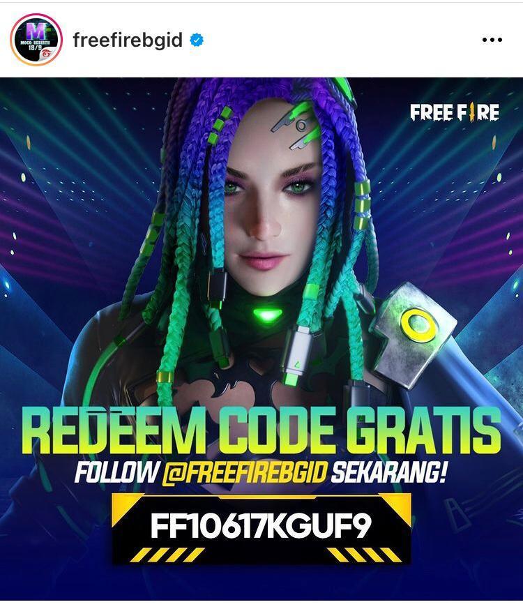 Screenshot kode redeem ff
