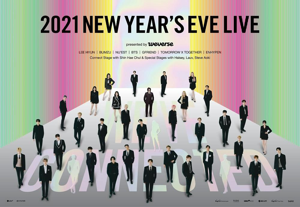 Poster konser Big Hit Labels 2021 New Year's Eve Live.
