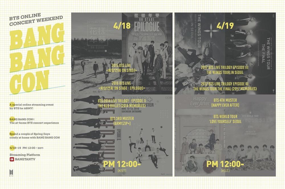 Jadwal konser online BTS BANG BANG CON.
