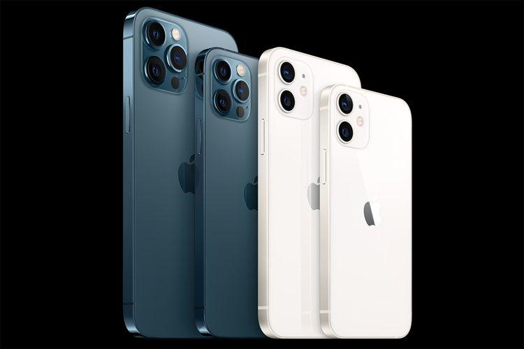 Lini perangkat iPhone 12 yang terdiri dari iPhone 12, 12 mini, 12 Pro, dan 12 Max