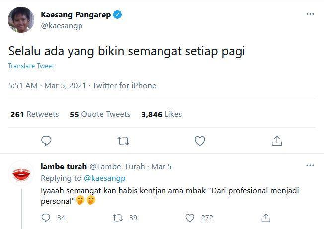 Unggahan Twitter Kaesang Pangarep, Jumat (5/3/2021)