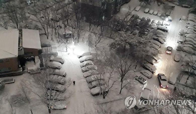 Suasana musim dingin saat Januari di Korea Selatan.