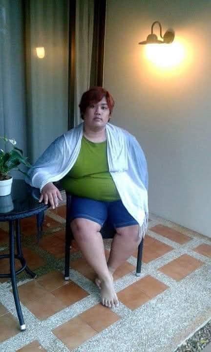 Nes Chedtragull saat masih memiliki berat badan 175 kg.