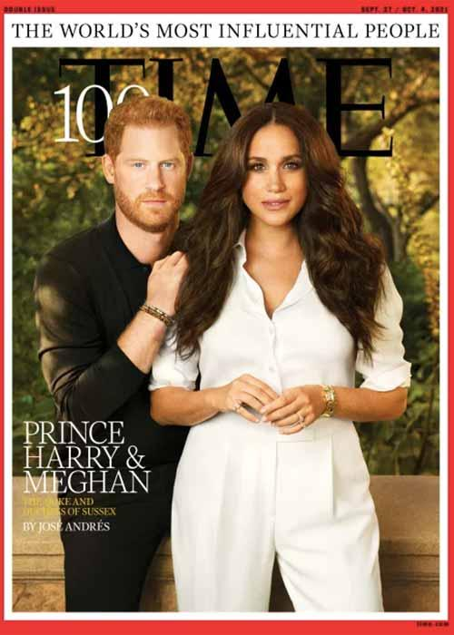 Pangeran Harry dan Meghan Markle menjadi cover majalah Time