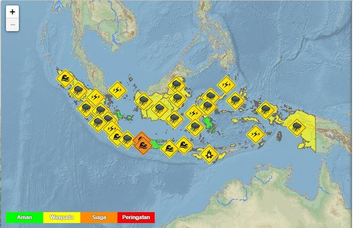 BMKG merilis peringatan dini cuaca di Indonesia untuk Minggu (13/9/2020)