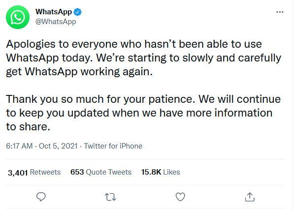 Permintaan maaf WhatsApp