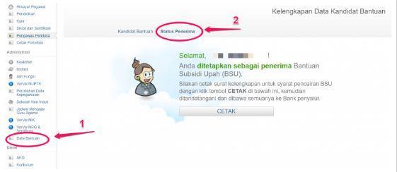 Pilih menu Data Bantuan.