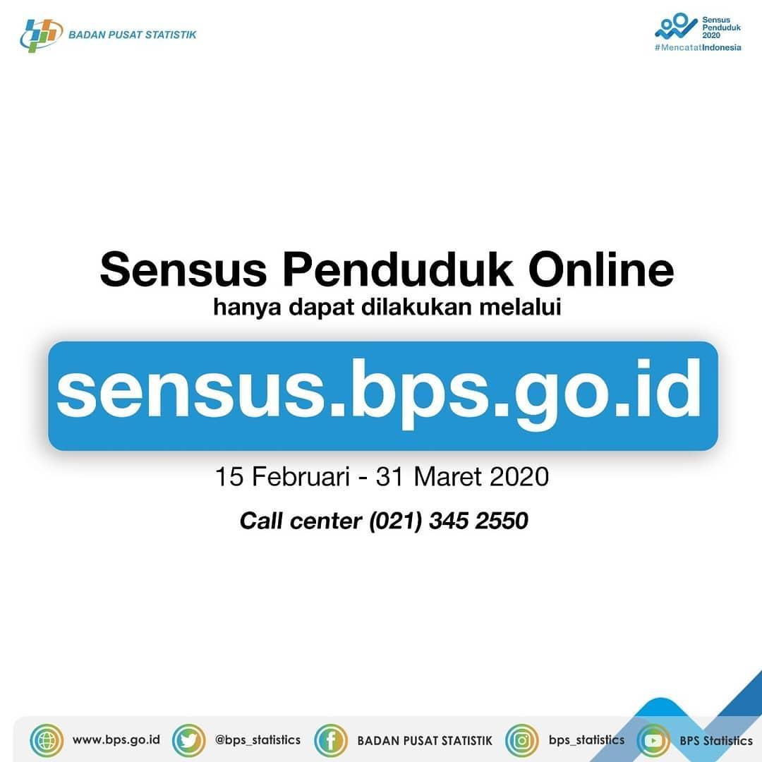 Poster Sensus Penduduk 2020.(Instagram @bps.statistics)