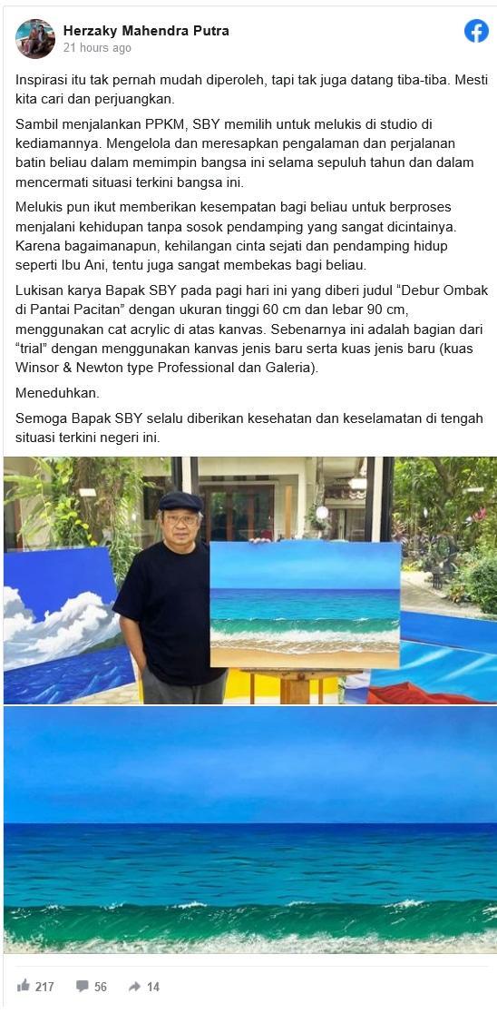 Postingan Facebook Herzaky Mahendra Putra