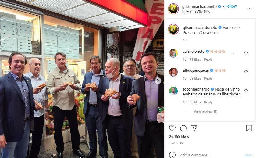 postingan Menteri Pariwisata Gilson Machado di Instagram