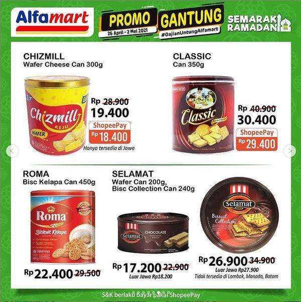Promo Alfamart berlaku hingga 2 Mei 2021, banyak potongan harga dan cashback. (Tangkap layar instagram @alfamart