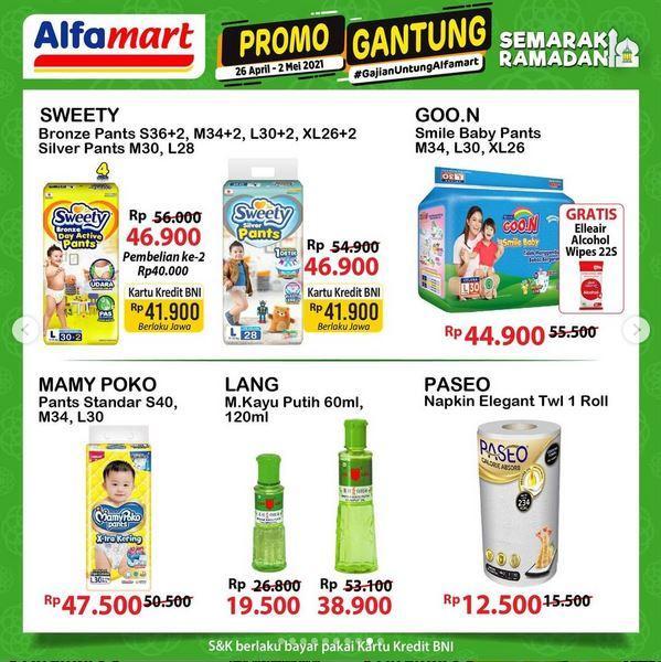 Promo Alfamart berlaku hingga 2 Mei 2021, banyak potongan harga dan cashback. (Tangkap layar instagram @alfamart)