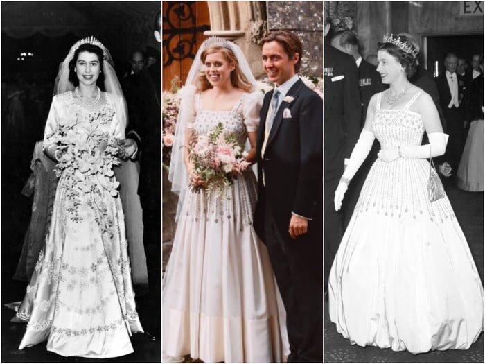 Putri Beatrice memberi penghormatan kepada Ratu Elizabeth dengan cara mengenakan tiara pernikahannya serta gaun pengantin yang juga miliknya.