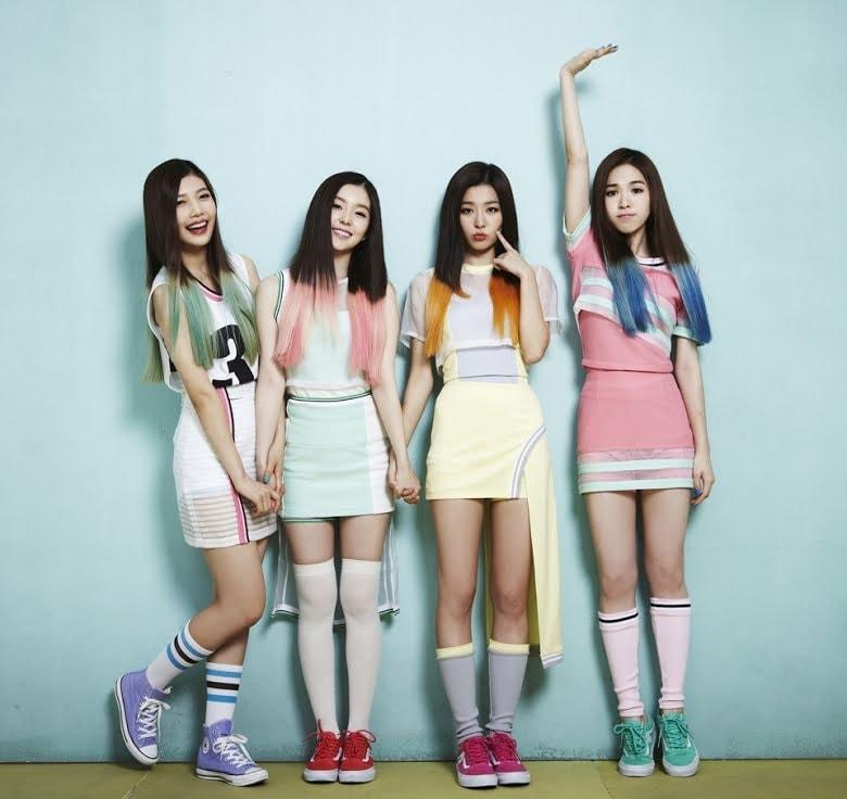Red Velvet waktu debut Happiness tahun 2014 lalu