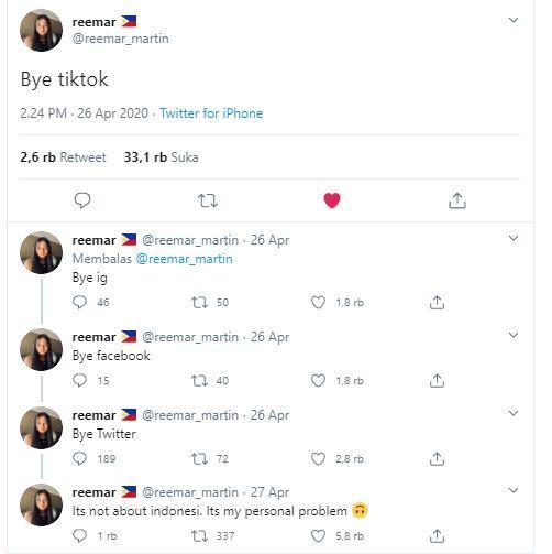 Reemar Martin ingin tinggalkan media sosial