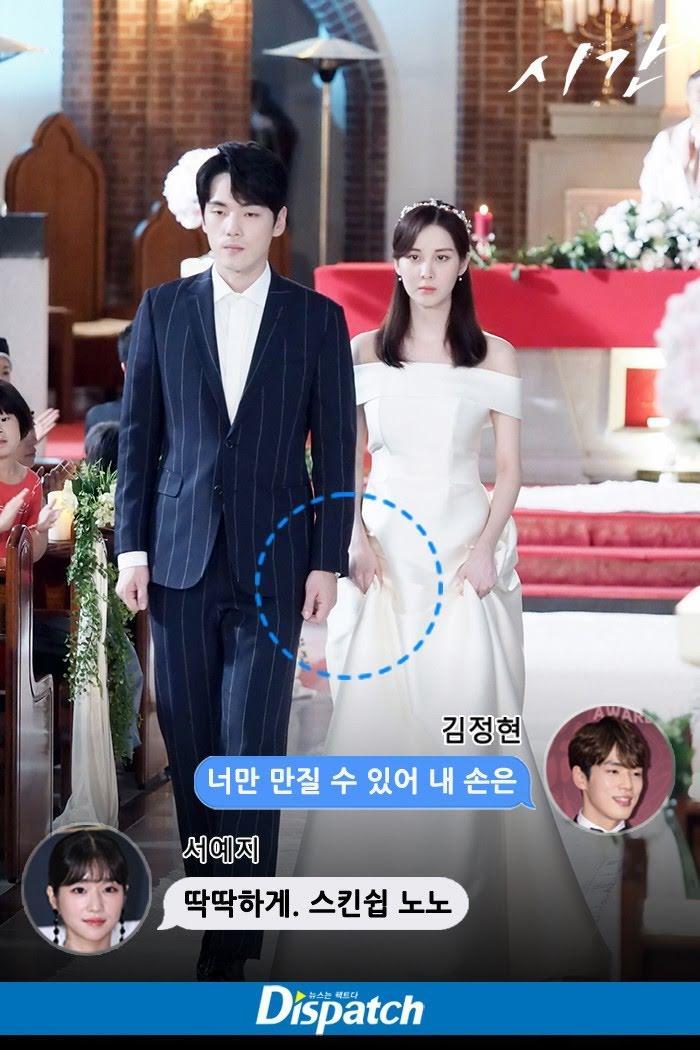 Adegan Seohyun dan Kim Jung Hyun dalam drama Time.