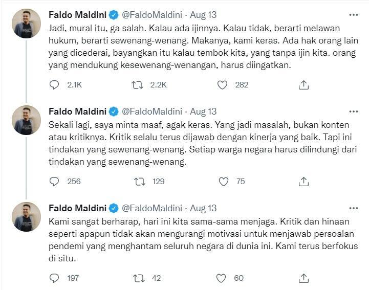 Stafsus Mensesneg Faldo Maldini kritik soal mural Jokowi 404: Not Found