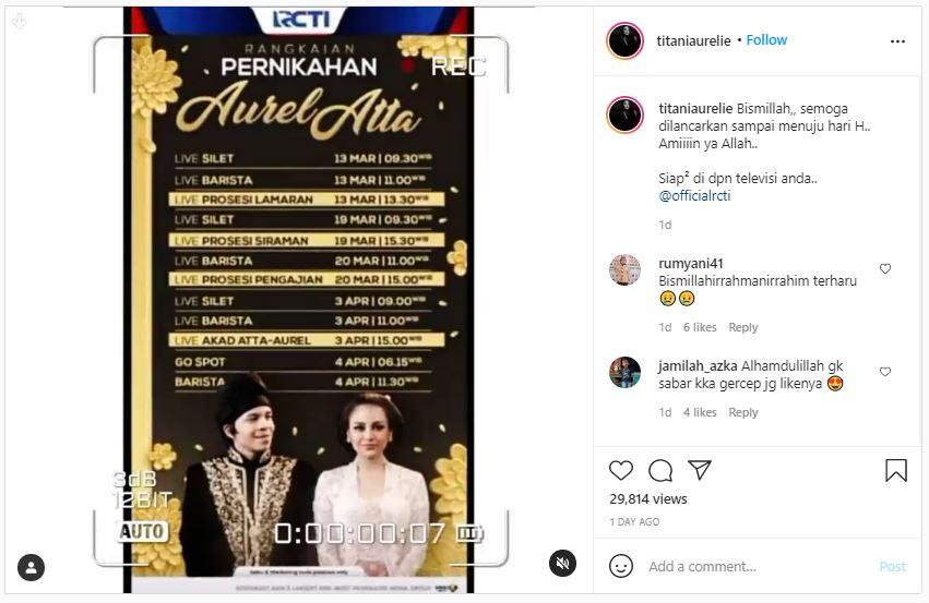 Tanggap pernikahan dan rangkaian acara Atta Halilintar dan Aurel Menikah