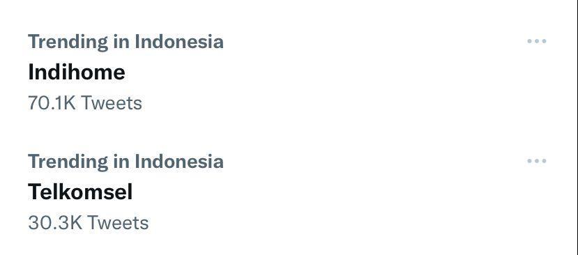 Telkomsel dan IndiHome Trending di Twitter, Senin (20/9/2021)