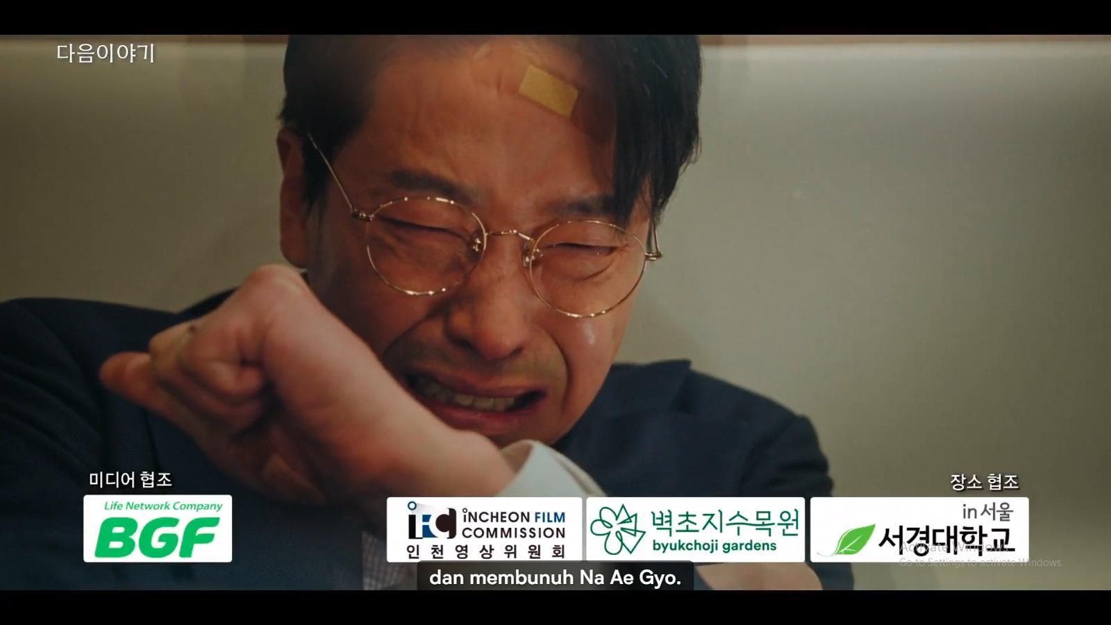 Joo Dan Tae menangisi perbuatannya terhadap Na Ae Gyeo.