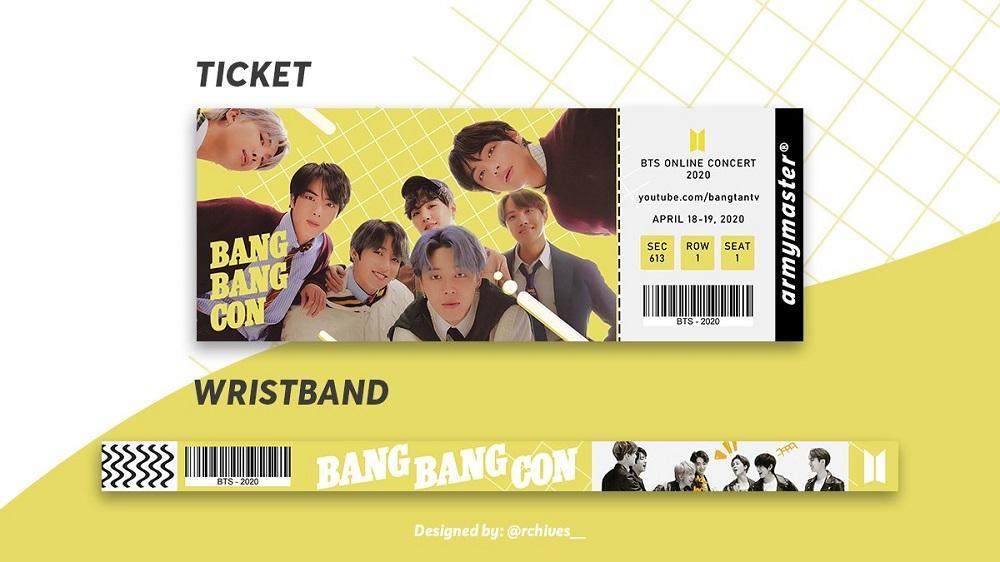 Tiket konser online BTS BANG BANG CON buatan ARMY.