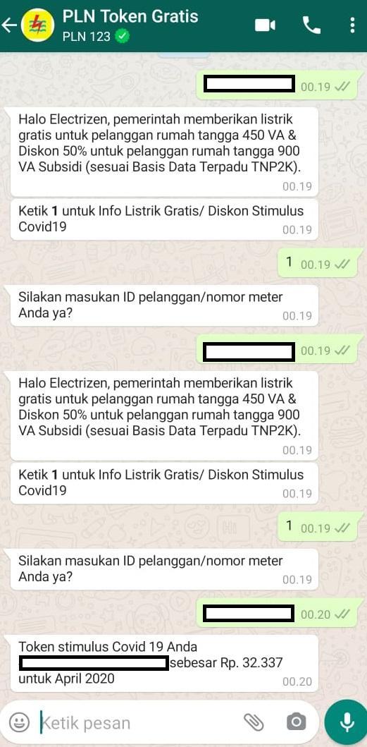 Tutorial Klaim Token Listrik Gratis PLN via WhatsApp