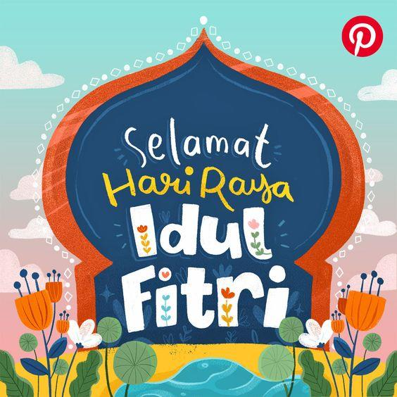Ucapan Idul Fitri 1441H (pinterest/Pinterest Indonesia)