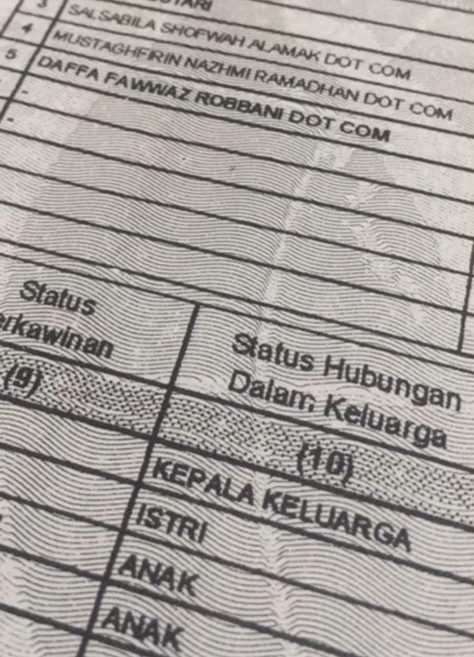 Viral kisah unik nama setiap anak di keluarga ini memiliki tambahan 'Dot Com', ternyata inspirasi orang tuanya mengejutkan.