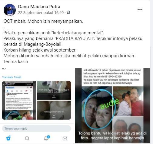 Viral seorang bocah berusia 15 tahun bernama Putri Audina Wijaya hilang diculik