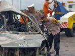 Pengemudi Sopir Agya Plat AB Terbakar Hidup-hidup, Mobil Tinggal Kerangka