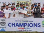 Tampil di Majalengka, Akademi Persib Bandung Kota Bogor Meraih Juara 2