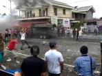 Simulasi Polisi Hadapi Massa yang Mengamuk di Bolaang Mongondow