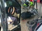 Diduga Alami Stroke Mendadak, Mobil yang Dikendarai Seorang ASN Tabrak 2 Motor hingga Kulkas