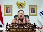 Menristek Upayakan Indonesia Mandiri Menangani Covid-19 di Tahun 2021