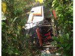 Bus yang Angkut Pejabat Sumbar Masuk  ke Sungai, Dua Orang Dilaporkan Tewas