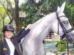 Baru Kembali Tunggangi Kuda Amanda, Claresta Amantha Kamsari Nyaris Naik Podium