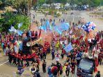 Demo Buruh di Patung Kuda: Kami Siap Terpapar Covid-19 untuk Menolak Omnibus Law