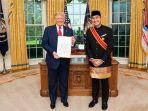Datangi Gedung Putih, Dubes RI untuk AS M Lutfi Serahkan Surat Kepercayaan kepada Presiden Trump